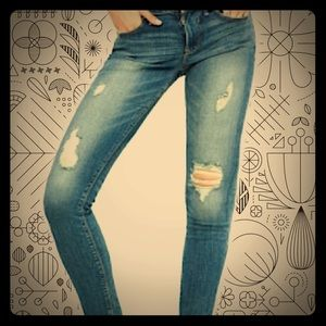 Express Stella low rise ankle jeans